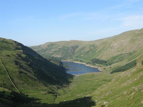 Looking down on Mardale Head on the descent from Small Water
