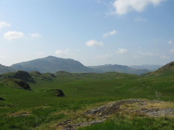 Looking back over Damas Dubs to Harter Fell