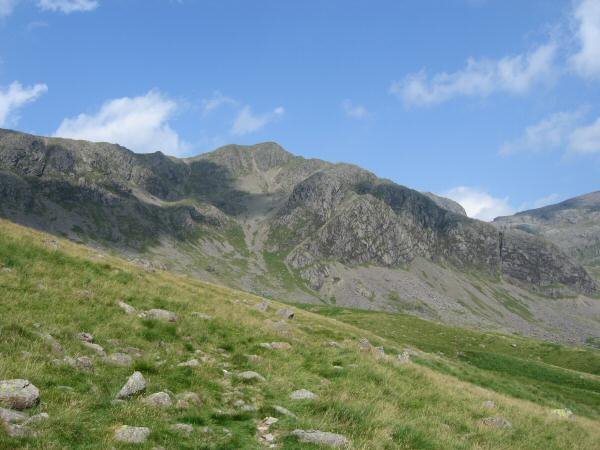 Long Green with Cam Spout Crag on the right