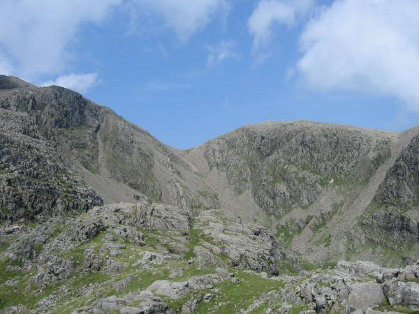 Little Narrowcove and Broad Crag from Pen's summit