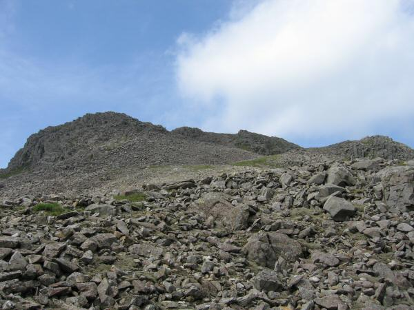 Our route up Scafell Pike from Pen