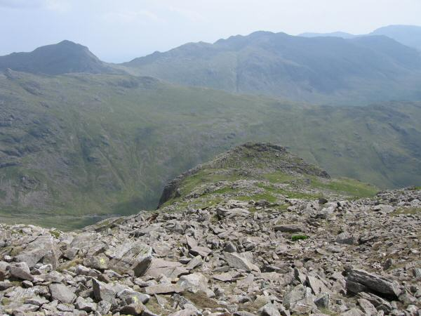 Looking back down on Pen from our ascent of Scafell Pike