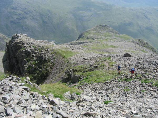 Ascending Scafell Pike from Pen