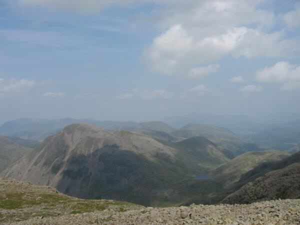 Great Gable and Styhead Tarn from Scafell Pike's summit