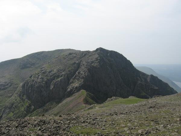 Scafell and Mickledore from Scafell Pike