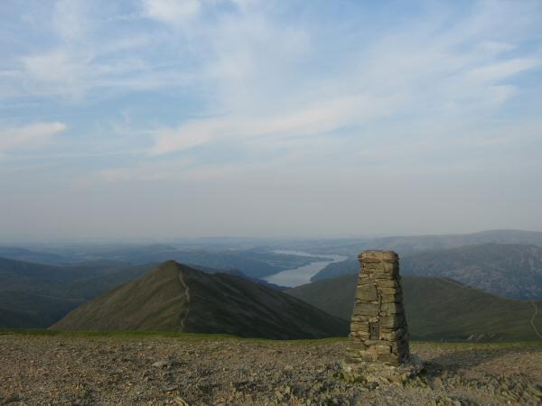 Catstycam from the trig point at Helvellyn's summit