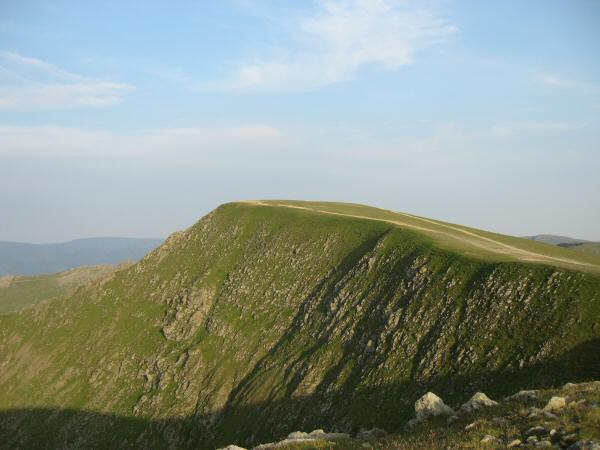 Looking back to Helvellyn from Lower Man