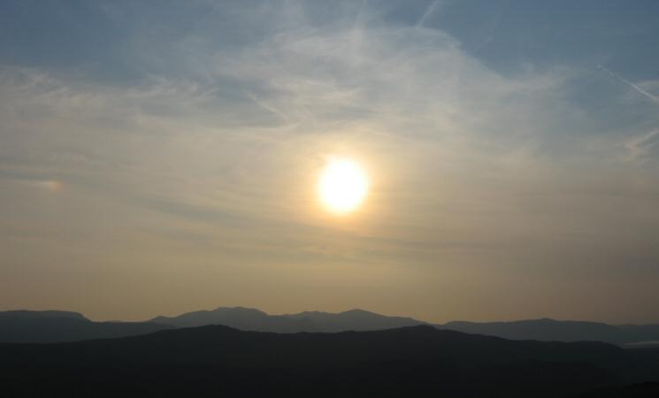 Sun over the north western fells