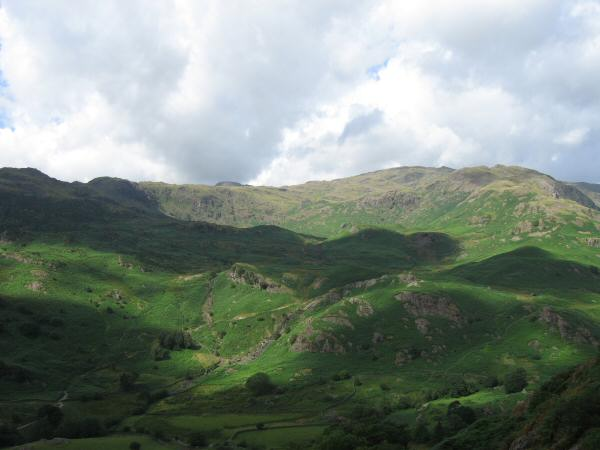 Looking across Easedale to the Blea Rigg ridge