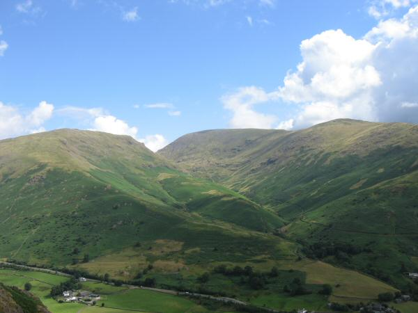 Seat Sandal, Fairfield and Great Rigg from Helm Crag