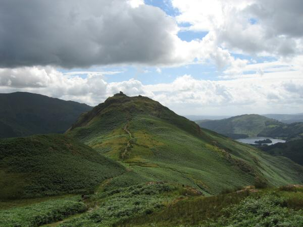 Looking back to Helm Crag from our ascent of Gibson Knott