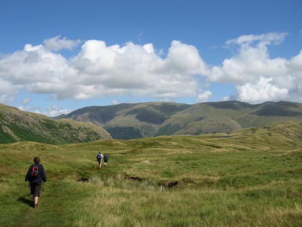 Heading for Steel Fell from Calf Crag
