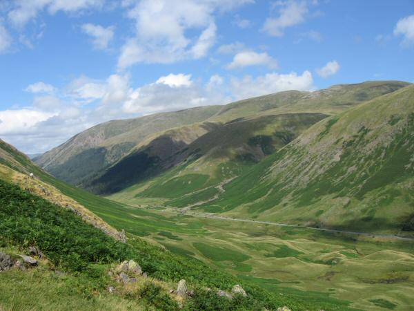 ...and Dunmail Raise with the Helvellyn range behind