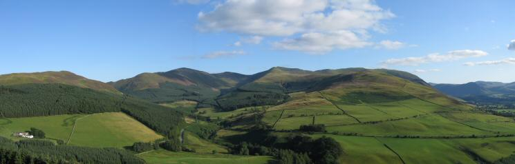 Whinlatter (Brown How), Grisedale Pike, Ladyside Pike and Whiteside