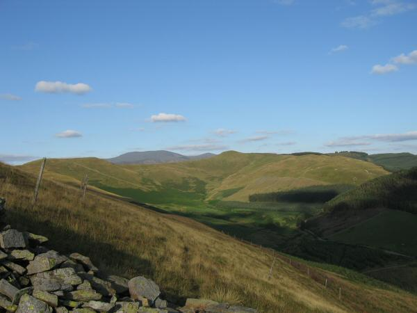 Broom Fell on the far left, Skiddaw in the distance, Lord's Seat just right of centre