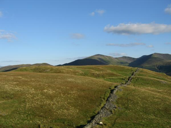 Looking back to Graystones' summit from Wainwright's top