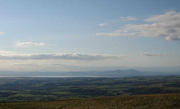 Criffel in Scotland on the other side of the Solway Firth
