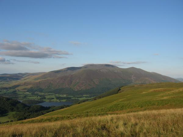 Skiddaw and a glimpse of Bassenthwaite Lake from Broom Fell