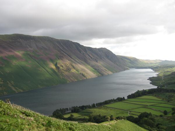 Wastwater and The Screes from the ridge
