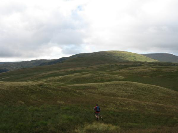 Leaving Hare Shaw's summit for Selside Pike