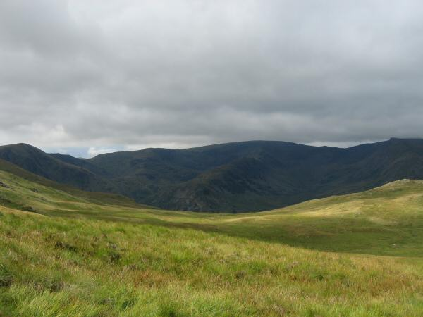 High Street with Harter Fell on the far left and Kidsty Pike on the far right