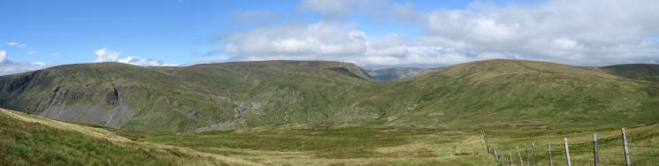 Kentmere Pike, Harter Fell and Branstree from Tarn Crag