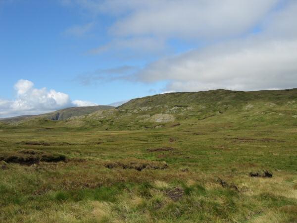 Tarn Crag seen across Greycrag Tarn