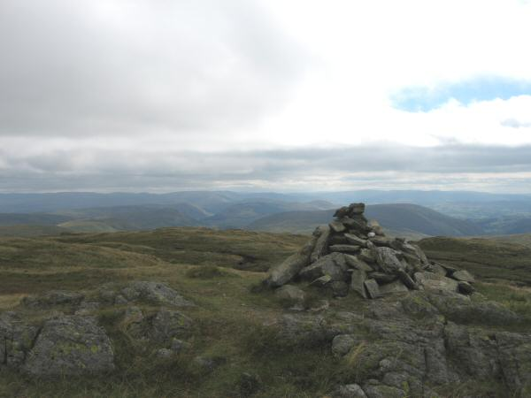 The view southeast towards the Howgill Fells from Grey Crag's summit