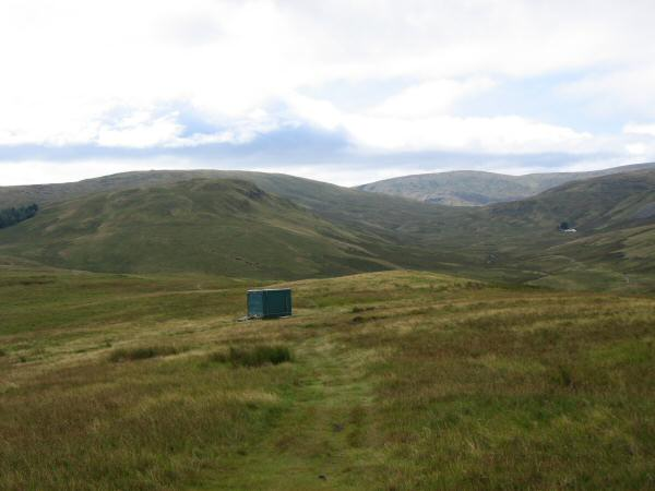 Brunt Tongue leading up onto Tarn crag with Kentmere Pike in the distance (right of centre) from the slopes of Scam Matthew