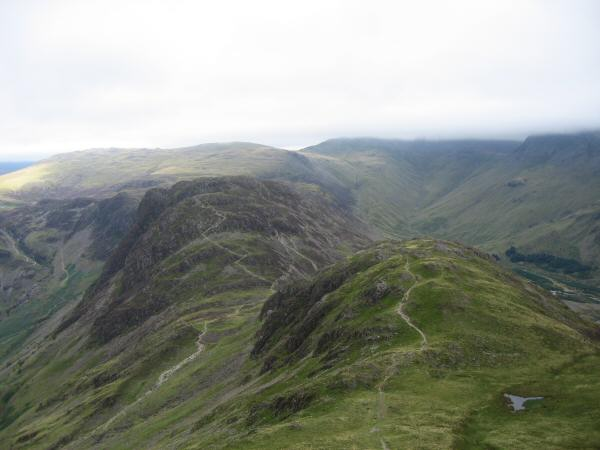 Seat and Haystacks from Gamlin End (High Crag)