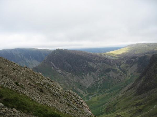 Looking across to Fleetwith Pike, to be our final summit of the day, from Gamlin End