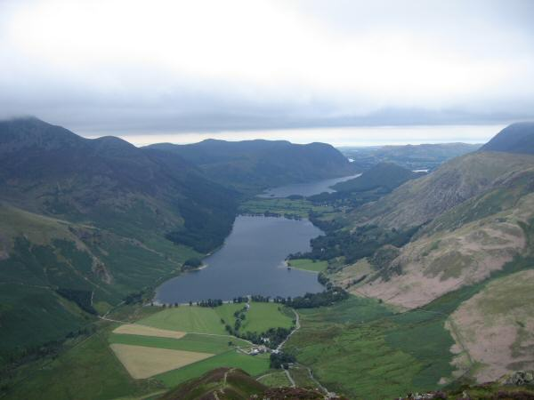 Buttermere and Crummock Water from Fleetwith Edge