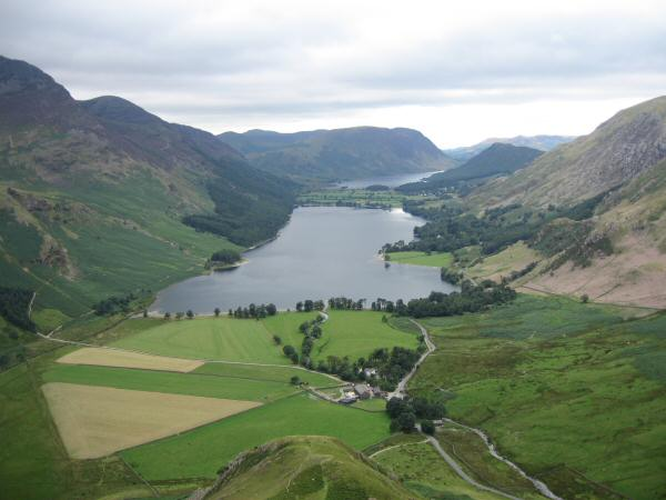 Buttermere and Gatesgarth from lower down Fleetwith Edge