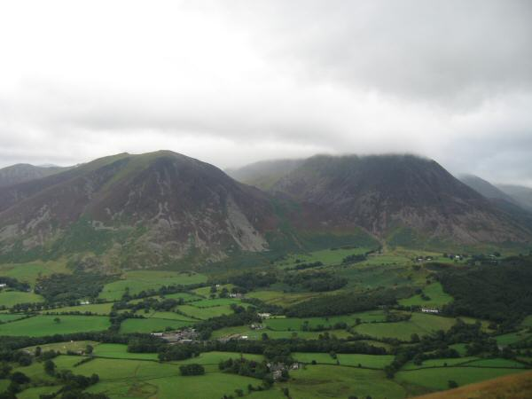 Whiteside and Grasmoor from Low Fell
