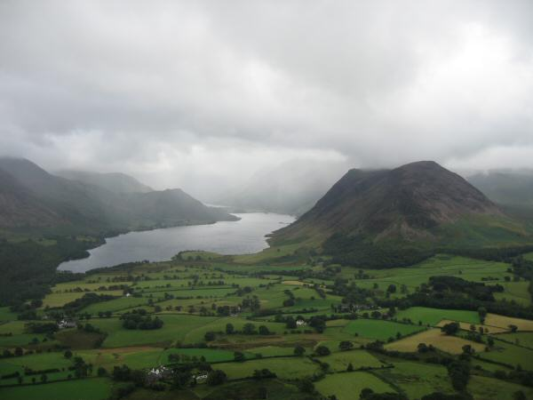 Crummock Water and Mellbreak from Low Fell's southern top