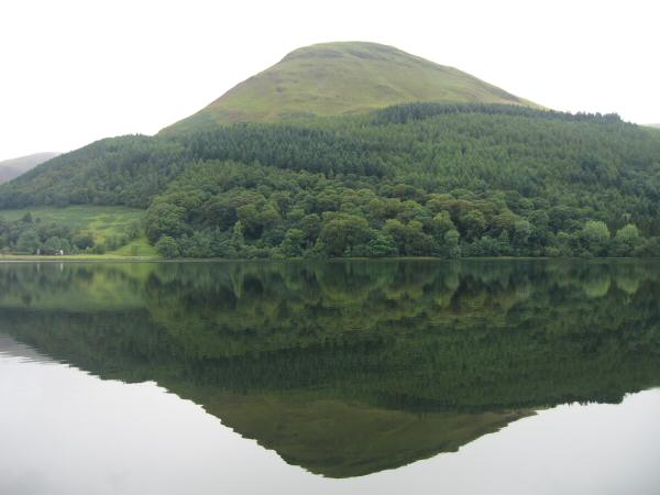 Carling Knott reflecting in Loweswater