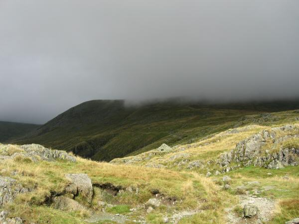 The way ahead, Birk Side in cloud