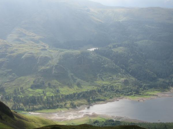 The head of Thirlmere and Harrop Tarn