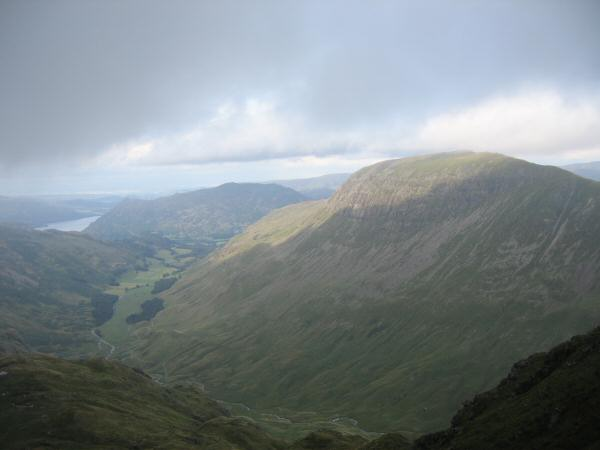 Grisedale and Saint Sunday Crag from the descent off Dollywaggon Pike