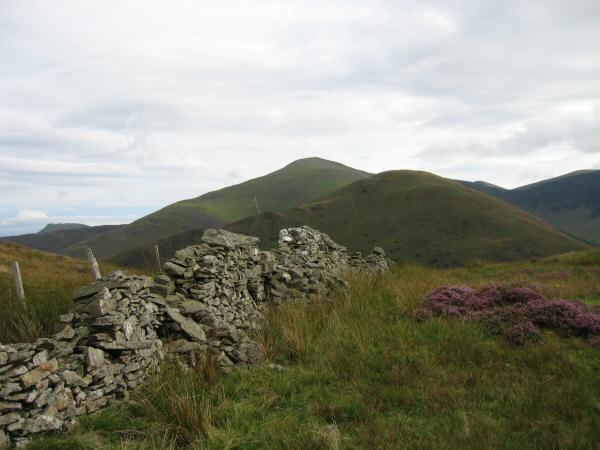 Hobcarton End with Grisedale Pike behind and Causey Pike far left