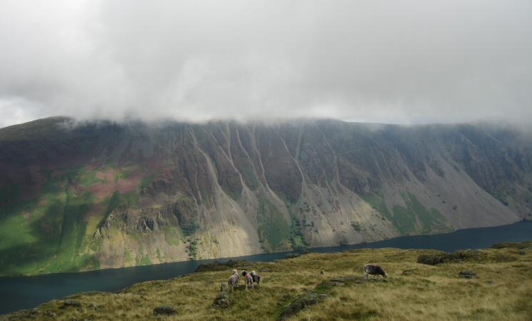Wastwater Screes from Middle Fell's summit