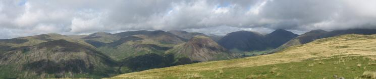 Northerly panorama from Illgill Head