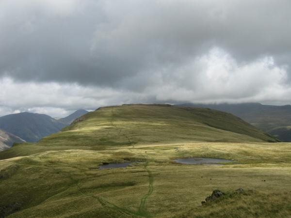 Looking back towards Illgill Head from the ascent of Whin Rigg