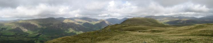 Northerly panorama from Whin Rigg's summit