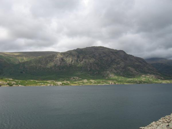 Looking across Wastwater to Middle Fell