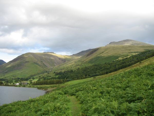 Lingmell, Pikes Crag (Scafell Pike) seen just to the left of Green How and Scafell