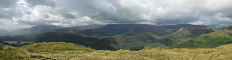 Westerly panorama from the Stone Arthur to Great Rigg ridge