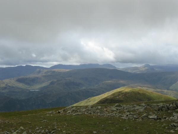 The view west from Fairfield's summit