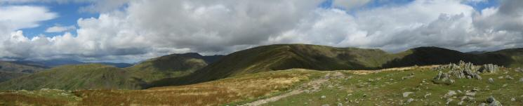 Northerly panorama from Great Rigg's summit