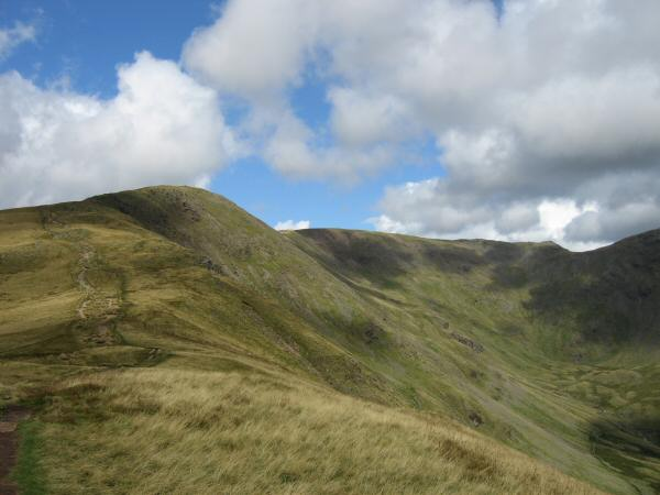 Looking back to Great Rigg and Fairfield